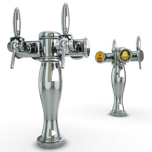 3D 6 beer taps bar