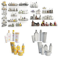 Bathoom Products and Metallic Shelves