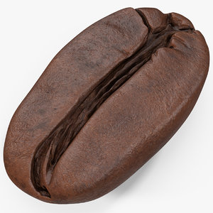 coffee bean roasted 3 3D model