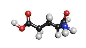 c5h9no4 glutamic acid 3D