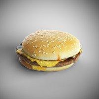 3D model hamburger sandwich