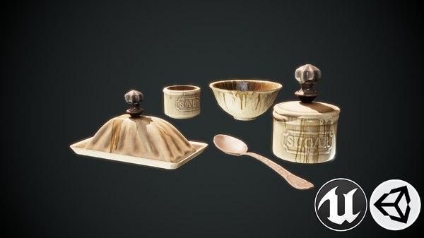 3D kitchenware kitchen