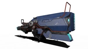 3D science fiction model
