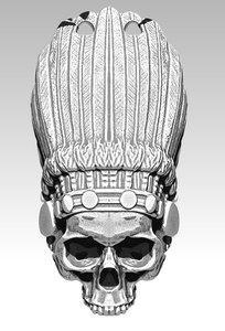 indian skull chief model
