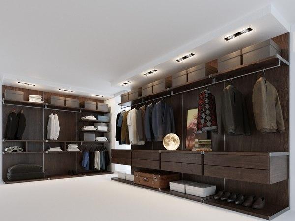 men s wardrobe 3D model