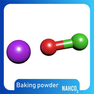 nahco3 molecule sodium bicarbonate 3D model