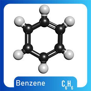 3D c6h6 benzene