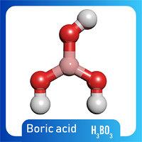 h3bo3 boric acid 3D