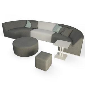contemporary furniture sofa 3D model
