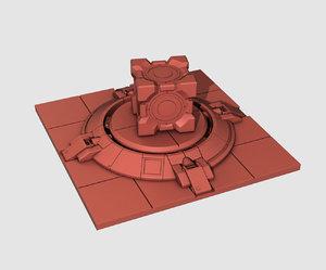 aperture super button portal 3D model