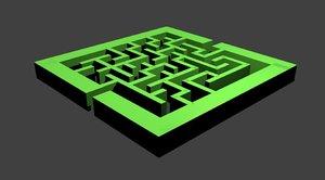 3D labyrinth model