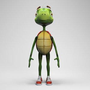 turtle reptile 3D model