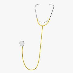 stethoscope 3 yellow model