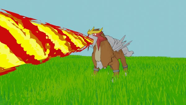 entei pokemon 3D