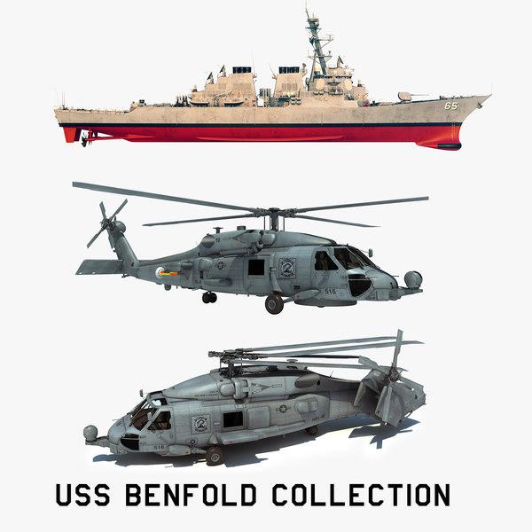 2 uss benfold model