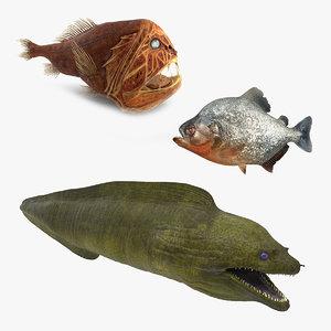 3D danger fishes