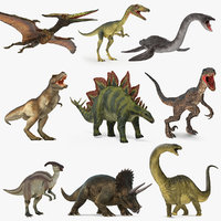 Rigged Dinosaurs Collection 4