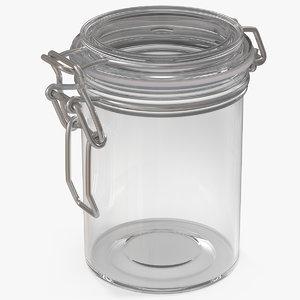 3D glass jar airtight lid