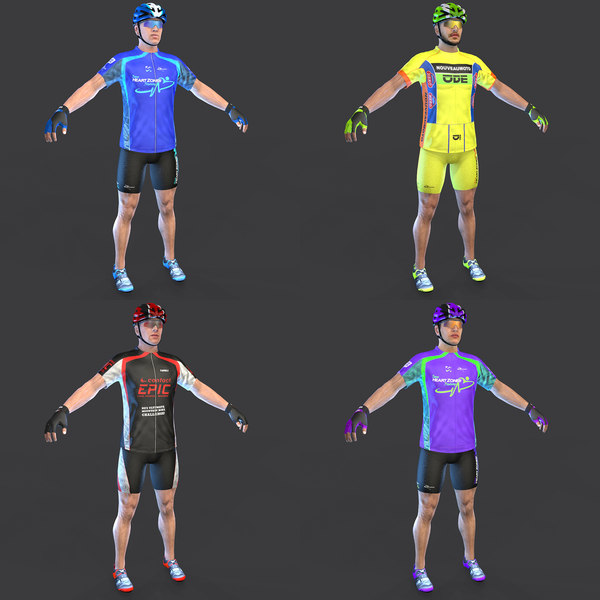 cyclist clothing shoes 3D model