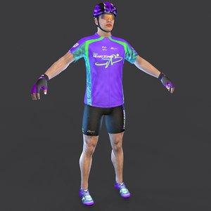 cyclist t 3D model