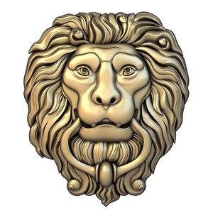 mask lion basrelief 3D model