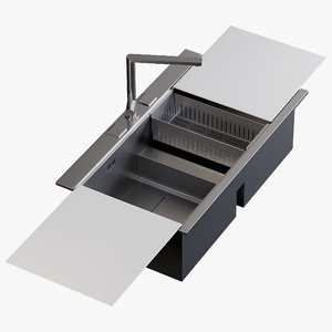 realistic sink linea mixer 3D model