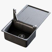 realistic sink smeg mixer 3D