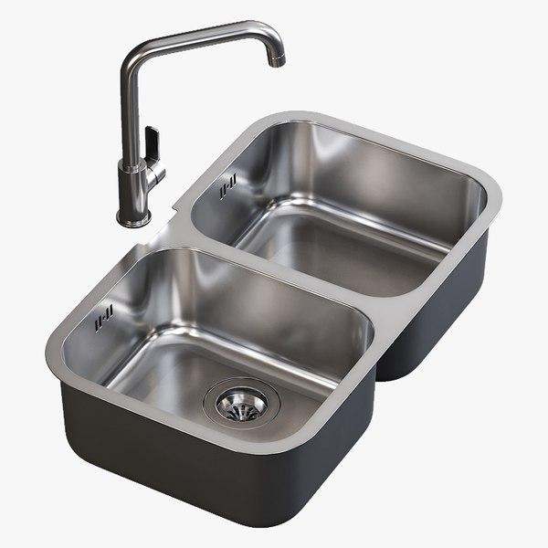 3D realistic sink alba mixer model