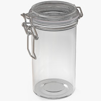 glass jar airtight lid 3D model