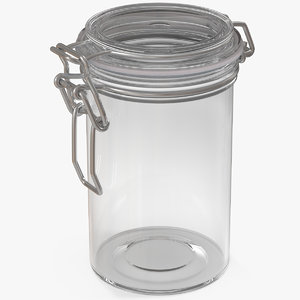glass jar airtight lid 3D