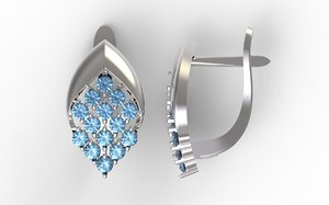 stl earrings orn 3D model