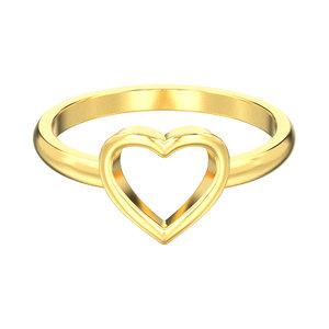 3D simple open heart ring model