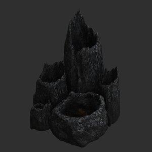 3D lava tubes model