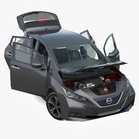 Nissan Leaf 2019 Rigged
