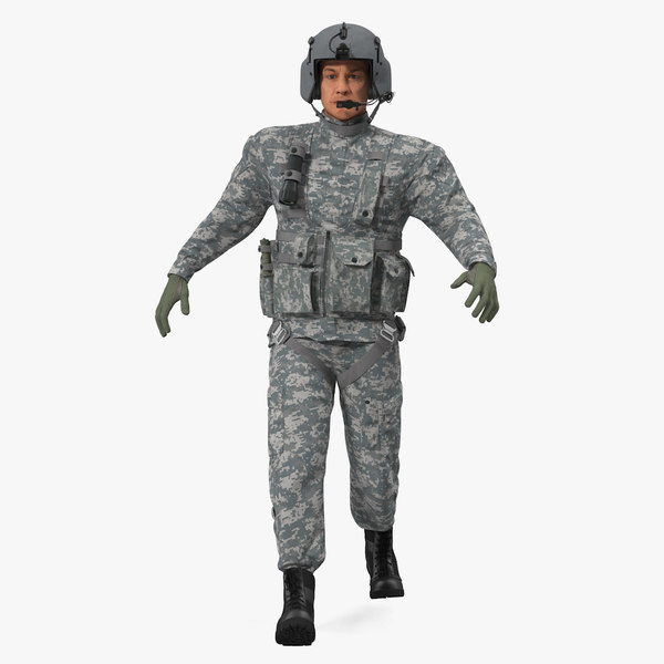 3D helicopter pilot rigged camo