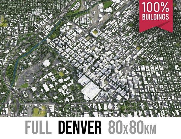 3D model denver city area
