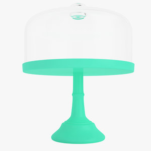 3D pie cake stand model