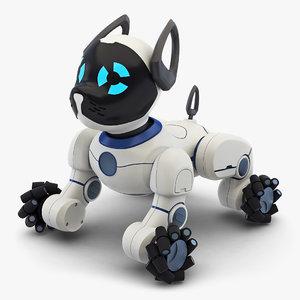 3D model robot dog toy v