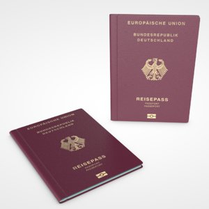 german passport 3D
