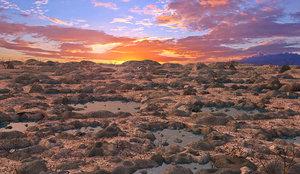 desert landscape rock 3D model