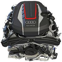 Audi S8 TFSI V8 Engine