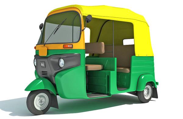 3D bajaj auto rickshaw tuktuk model