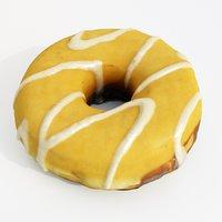 donut boston cream 3D model
