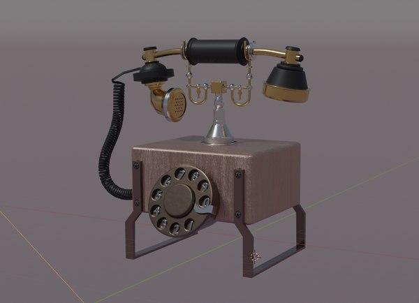 telephone old 3D model
