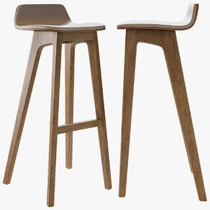 3D model bar stool morph wood