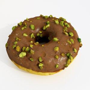3D donut pistachio