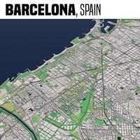 city barcelona 3D model