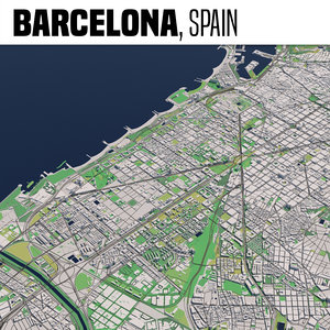 city barcelona 3D model