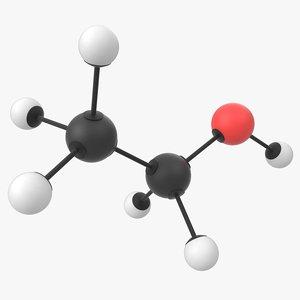 ethanol molecule 3D model