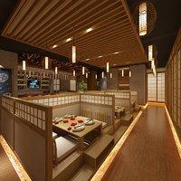 3D sushi restaurant